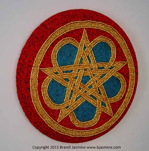 Celtic Pentacle in Beads