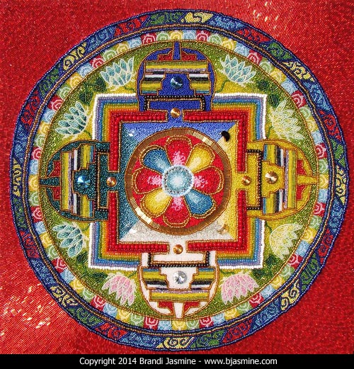 Tibetan Mandala in Beads by Brandi Jasmine