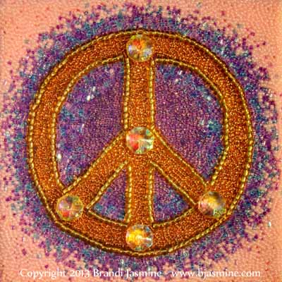 Peace Symbol in Beads