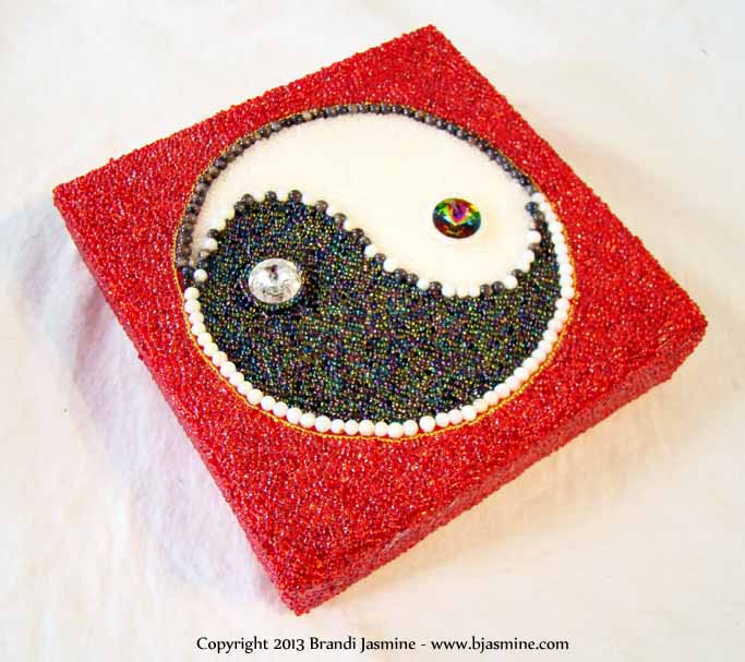 Yin Yang Symbol in Beads