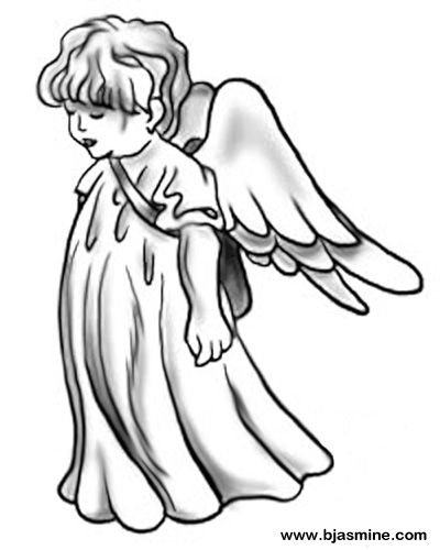 Cartoon Cherub by Brandi Jasmine, All Rights Reserved