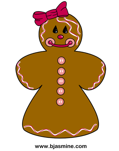 Gingerbread Woman Cartoon by Brandi Jasmine, All Rights Reserved