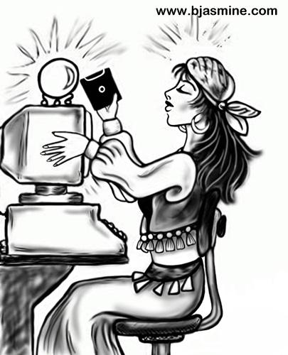 Modern Gypsy Cartoon by Brandi Jasmine, All Rights Reserved
