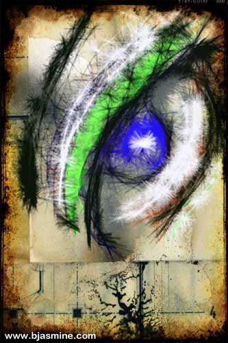Grungy Eye Digital Illustration by Brandi Jasmine, All Rights Reserved