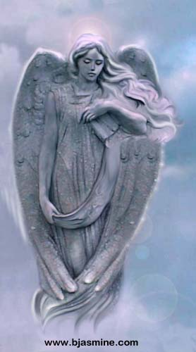 Stone Angel Digital Illustration by Brandi Jasmine, All Rights Reserved