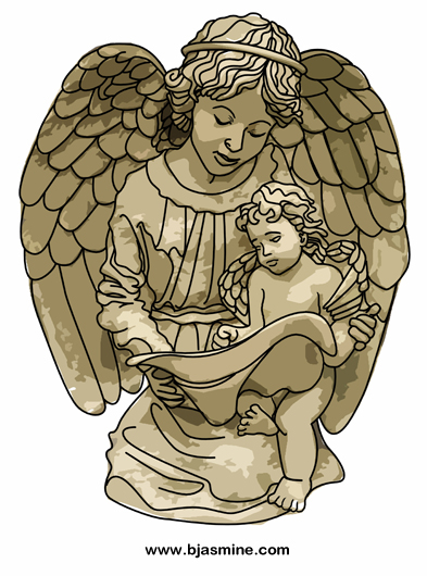 Angel Teacher Digital Illustration by Brandi Jasmine, All Rights Reserved