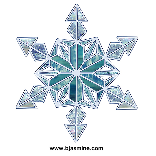 Faux Stained Glass Snowflake by Brandi Jasmine, All Rights Reserved