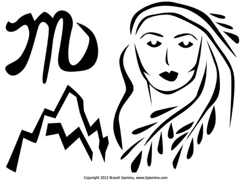 Virgo Zodiac Pumpkin Carving Pattern