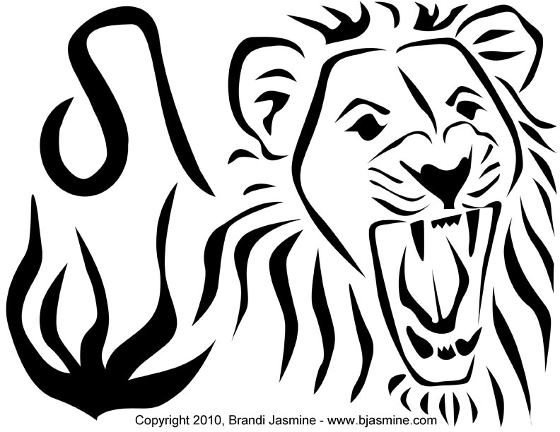 Leo Zodiac Pumpkin Carving Pattern