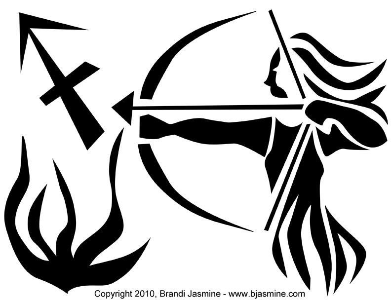 Sagittarius Zodiac Pumpkin Carving Pattern