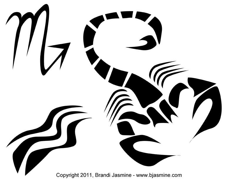 Scorpio Zodiac Pumpkin Carving Pattern