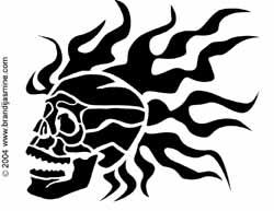 Skull Jack-O-Lantern Pattern