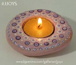 Pink Faux Rock Tea Light Holder