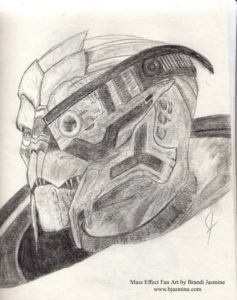 Garrus Mass Effect Sketch