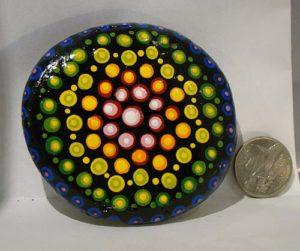 Hand Painted Rock: Mandala