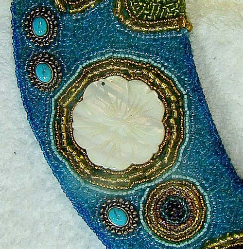 Beaded Gecko Wall Hanging - Detail