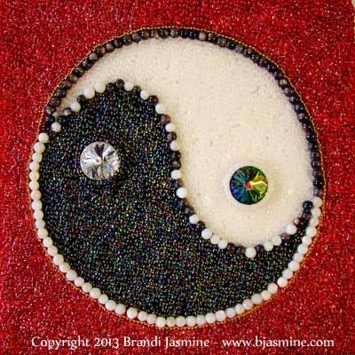 Yin Yang Symbol in Beads
