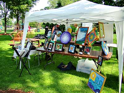 ArtFest Welland Tent Display