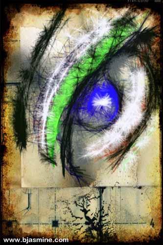 Grungy Eye Digital Illustration by Brandi Jasmine, All Rights Reserved