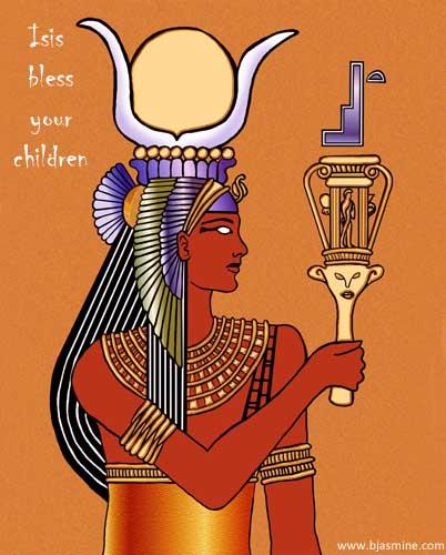 Isis Digital Illustration by Brandi Jasmine, All Rights Reserved