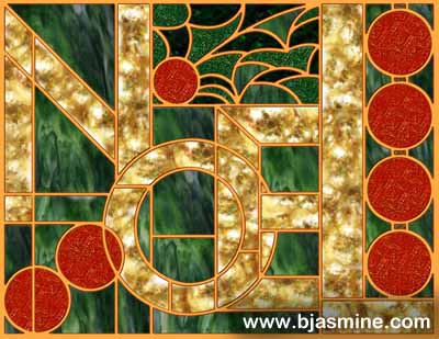 Faux Stained Glass Christmas Noel by Brandi Jasmine, All Rights Reserved