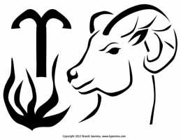 Aries Zodiac Jack-O-Lantern Pattern