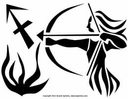 Sagittarius Zodiac Jack-O-Lantern Pattern
