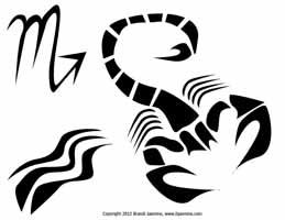 Scorpio Zodiac Jack-O-Lantern Pattern