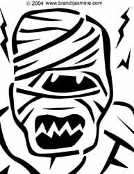 Mummy Jack-O-Lantern Pattern