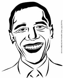 Barack Obama Pumpkin Carving Pattern