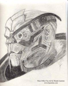 Garrus Mass Effect Sketch