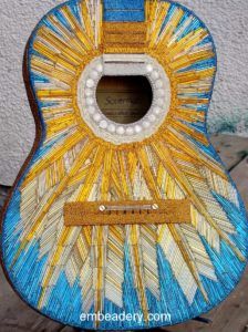 Starburst Zodiac Beaded Guitar