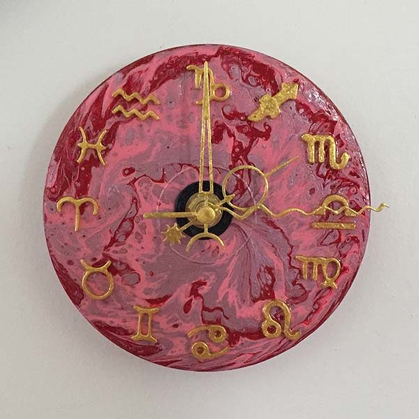 CD Sized Zodiac Clock