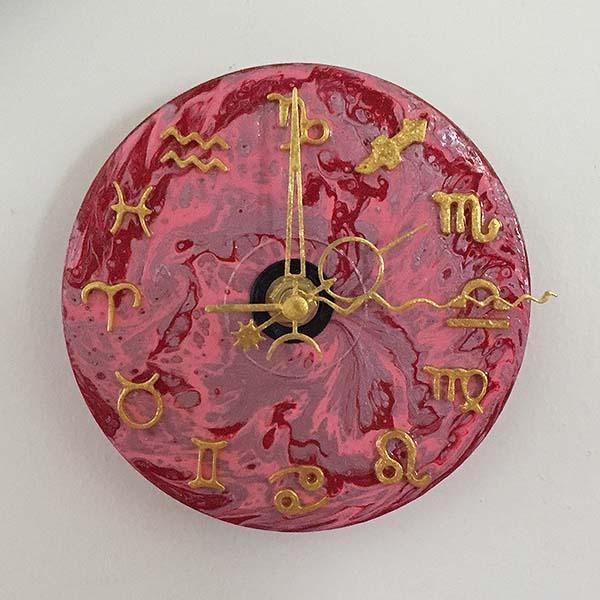 CD Sized Zodiac Clock